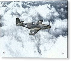 Early P-51 Mustang Fighter  Acrylic Print by Randy Steele