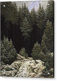 Early Snow Acrylic Print by Caspar David Friedrich