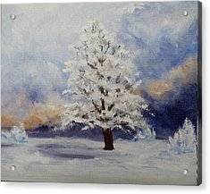 Early Snow Acrylic Print by Thomas Restifo