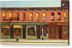 Early Sunday Morning Acrylic Print by Edward Hopper