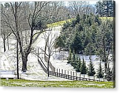 Early Winter Pasture Acrylic Print by Susan Leggett