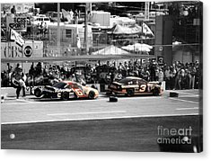 Earnhardt And Martin In The Pits Acrylic Print by John Black