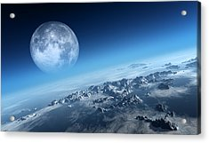 Earth Icy Ocean Aerial View Acrylic Print by Johan Swanepoel