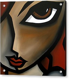 Earthy - Original Abstract Modern Painting By Fidostudio Acrylic Print by Tom Fedro - Fidostudio