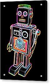 Easel Back Robot Acrylic Print by DB Artist