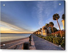 East Battery Row Charleston South Carolina Sunrise Acrylic Print by Dustin K Ryan