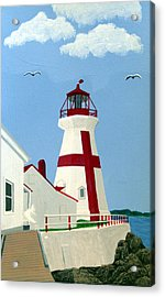 East Quoddy Head Lighthouse Acrylic Print by Frederic Kohli
