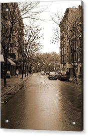 East Village In Winter Acrylic Print by Utopia Concepts