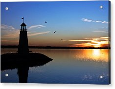 East Warf Sunset Acrylic Print by Lana Trussell