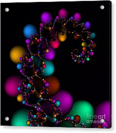 Easter Dna Galaxy 111 Acrylic Print by Rolf Bertram