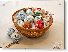 Easter Eggs Acrylic Print by Louise Heusinkveld