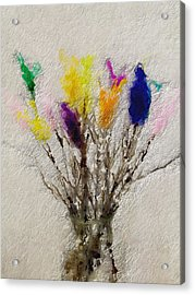 Easter Tree- Abstract Art By Linda Woods Acrylic Print by Linda Woods