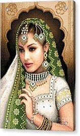 Eastern Beauty In Green Acrylic Print by Stoyanka Ivanova