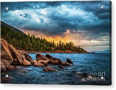 Eastern Glow At Sunset Acrylic Print by Anthony Bonafede