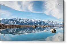 Eastern Sierra Nevada At Mono Lake Acrylic Print by Joseph Smith