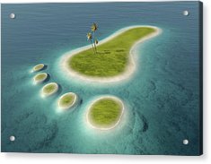 Eco Footprint Shaped Island Acrylic Print by Johan Swanepoel