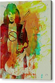 Eddie Van Halen Acrylic Print by Naxart Studio