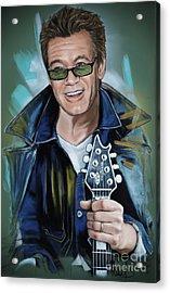 Eddie Van Halen Acrylic Print by Melanie D