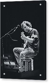 Eddie Vedder Playing Live Acrylic Print by Marco Oliveira