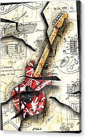 Eddie's Guitar Acrylic Print by Gary Bodnar