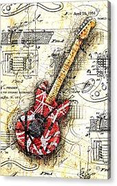 Eddie's Guitar II Acrylic Print by Gary Bodnar