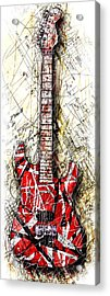 Eddie's Guitar Vert 1a Acrylic Print by Gary Bodnar