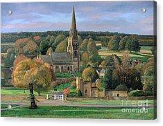Edensor - Chatsworth Park - Derbyshire Acrylic Print by Trevor Neal
