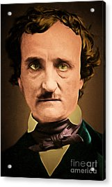 Edgar Allan Poe The Raven 20160420 Acrylic Print by Wingsdomain Art and Photography