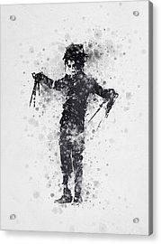 Edward Scissorhands 01 Acrylic Print by Aged Pixel