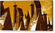 Hogsmeade Village Roof Tops Acrylic Print by David Lee Thompson