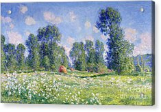 Effect Of Spring At Giverny Acrylic Print by Claude Monet