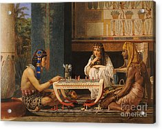 Egyptian Chess Players Acrylic Print by Sir Lawrence Alma-Tadema