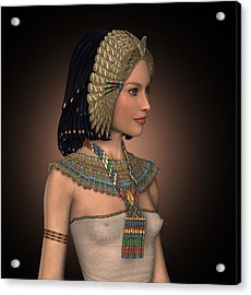 Egyptian Princess Acrylic Print by David Griffith