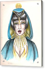 Egyptian Princess Acrylic Print by Scarlett Royal