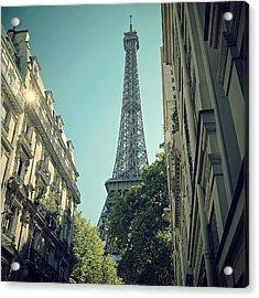 Eiffel Tower Acrylic Print by Louise LeGresley