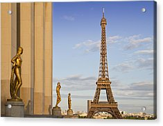Eiffel Tower Paris Trocadero  Acrylic Print by Melanie Viola