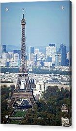 Eiffel Tower Acrylic Print by Photo by Daniel A Ferrara