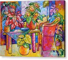Eighteen Past Twelve Acrylic Print by Ana Goldberger