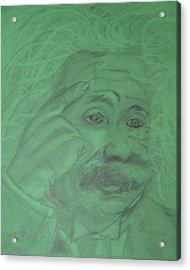 Einstein Acrylic Print by Manuela Constantin