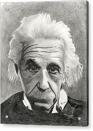 Einstein's Eyes Acrylic Print by Charles Vogan