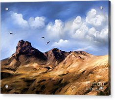 Landscapes Acrylic Print featuring the painting El Capitan by Susi Galloway