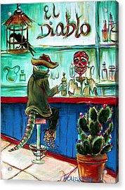 El Diablo Acrylic Print by Heather Calderon