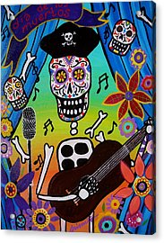 El Musikero Acrylic Print by Pristine Cartera Turkus