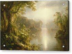El Rio De Luz Acrylic Print by Frederic Edwin Church
