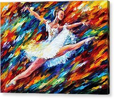 Elation - Palette Knife Oil Painting On Canvas By Leonid Afremov Acrylic Print by Leonid Afremov