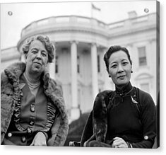 Eleanor Roosevelt And Madame Chiang Acrylic Print by Everett