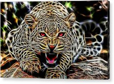 Electric Leopard Wall Art Collection Acrylic Print by Marvin Blaine