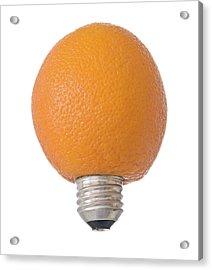 Electric Orange Acrylic Print by Jim DeLillo