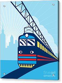 Electric Passenger Train Acrylic Print by Aloysius Patrimonio