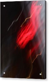 Electric Red And Yellow Acrylic Print by Karin Kohlmeier